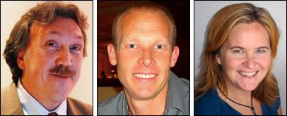 Paut Wylleman, Chris Harwood and Vana Hutter.