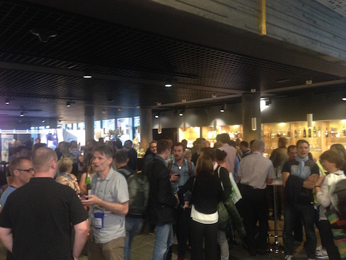 Great atmosphere at the Opening reception