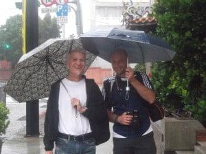 Rudolf Müllner, Österrike, Pascal Charitas, Frankrike och jag trotsade tyfonen för sightseeing