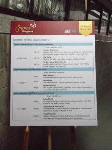 Måndagens presentationer i sessionsrum 3