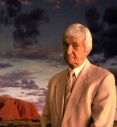 Richie Benaud and his trademark jacket even starred in a 2004 Australian Tourism campaign. AAP/Australian Tourism Commission