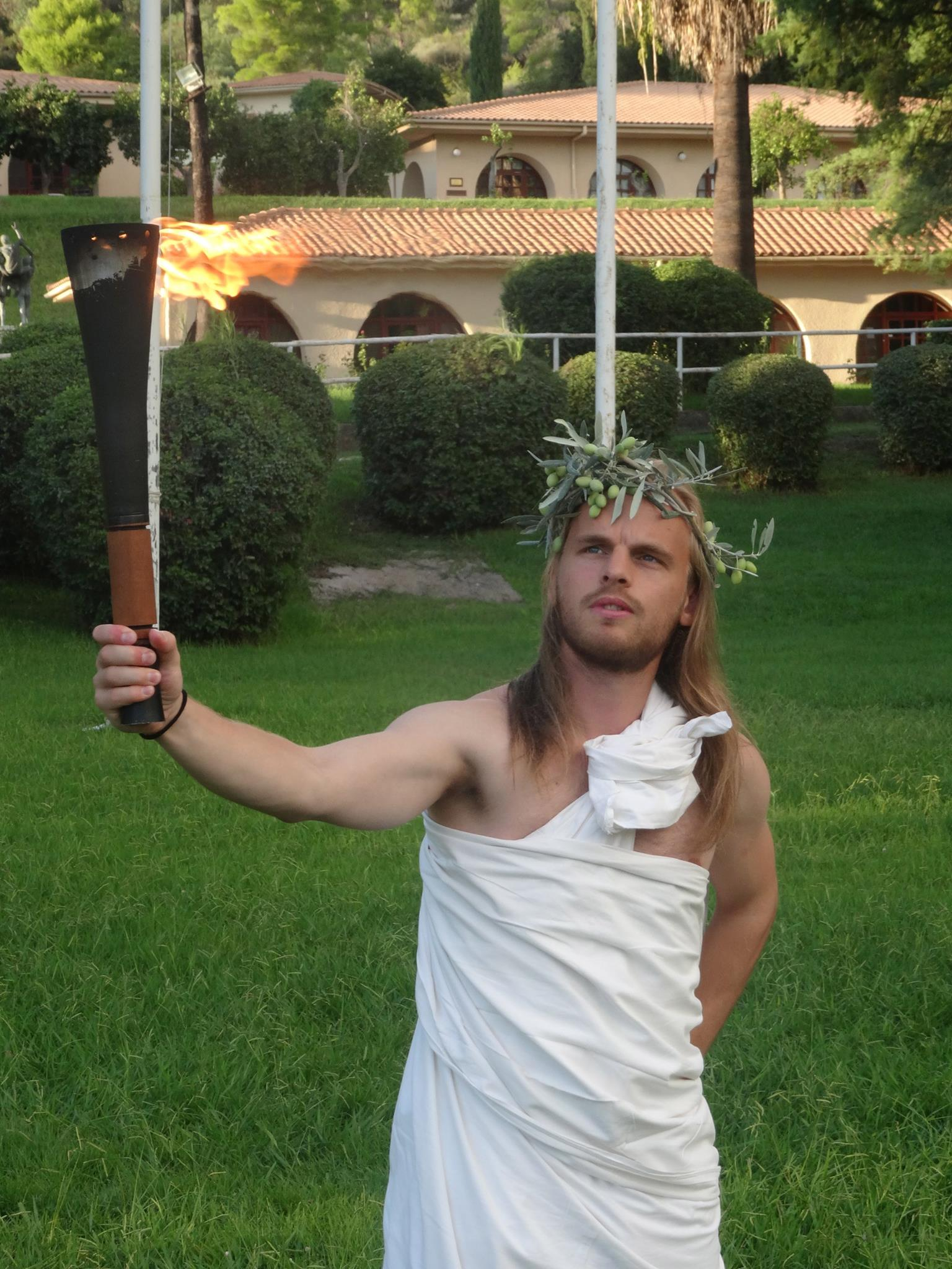 A somewhat skeptical Swedish torch bearer