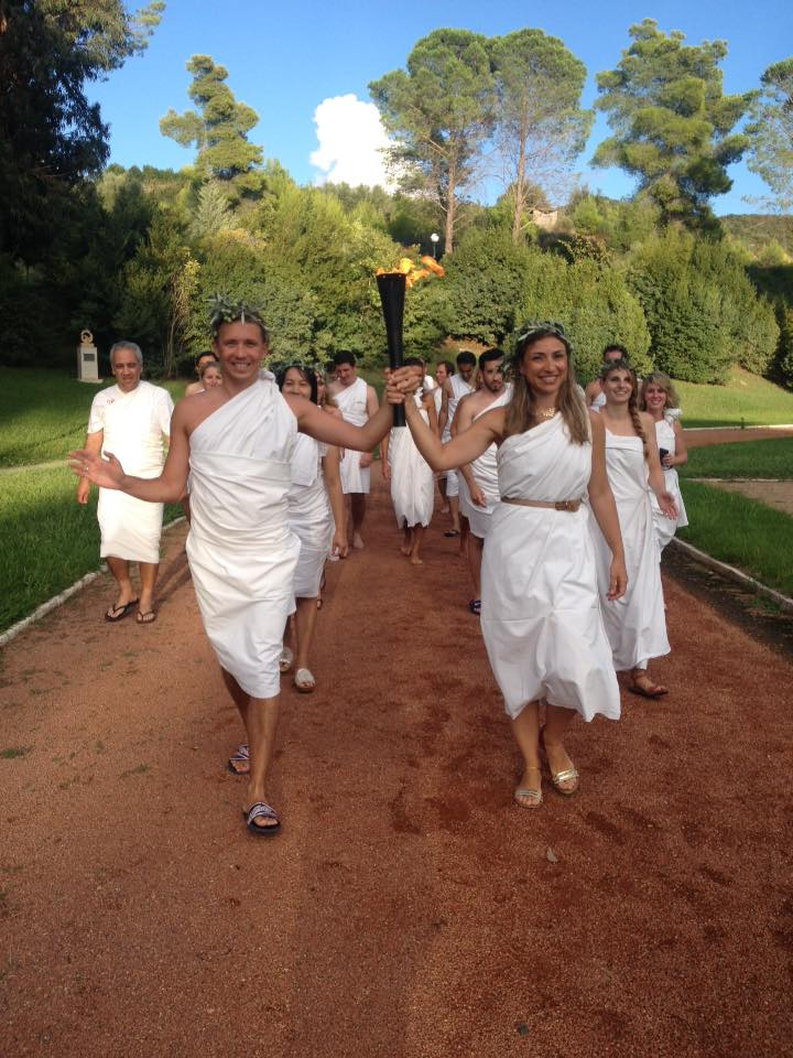 The torch relay of the IOA seminar of 2015