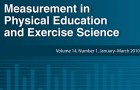 Measurement in Physical Education and Exercise Science Volume 20, Issue 2, 2016