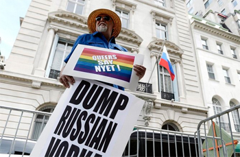 The Dump Russian Vodka campaign prompted Stolichnaya's CEO to condemn the anti-gay laws. (EPA/Justin Lane)