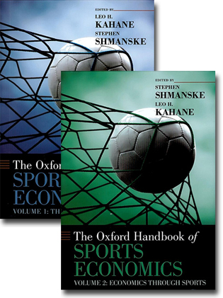 Leo H. Kahane & Stephen Shmanske (red) The Oxford Handbook of Sport Economics, Vol. 1: The Economics of Sports 523 sidor, inb. Oxford: Oxford University Press 2012 ISBN 978-0-19-538777-3 Stephen Shmanske & Leo H. Kahane (red) The Oxford Handbook of Sport Economics, Vol. 2: Economics Through Sports 459 sidor, inb. Oxford: Oxford University Press 2012 ISBN 978-0-19-538778-0