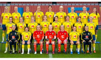 Moa Svans bokhyllning till det svenska fotbollslandslaget