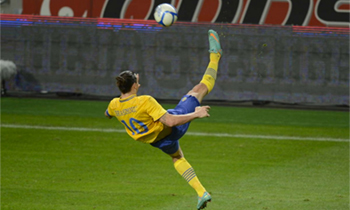 När Zlatan blev en del av konsthistorien
