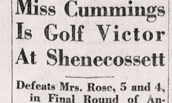 Once Upon a Time,  a Women's Golf Tournament: Shenecossett Invitation, 1919–1940