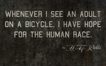 Fascinating study of an early bicycle enthusiast