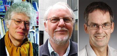 IOBs tre professorer inom humaniora och samhällsvetenskap: Henning Eichberg, Jørn Hansen och Bjarne Ibsen.