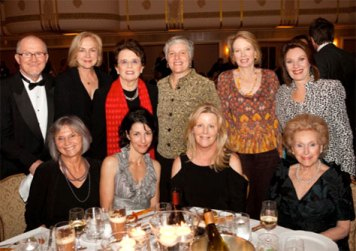 SHARP's creation was announced October 12, 2010, at WSF's annual Salute to Women in Sports at the Waldorf Astoria. In this photo: (Standing from left to right) Don Sabo, Mary Gendron, Billie Jean King, Marj Snyder, Mary Wilson, Yvonne Middleton. (Seated from left to right) Carol Boyd, Kathy Babiak, Stephanie Tolleson, Ann Mara. (Photographer-Women's Sports Foundation)
