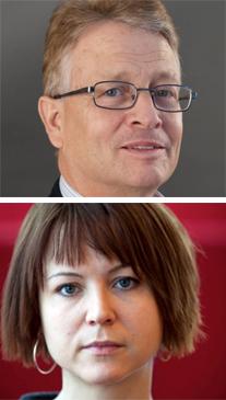 Peter Hassmén och Helena Tolvhed, förra årets viktigaste idrottsforskare.