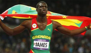 Kirana James, Grenada, James won the 400 metres in London, the nation's first ever gold medal at an Olympic Games.
