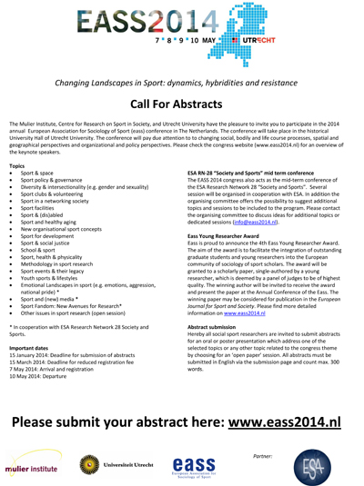 EASS2014-conference-call-for-abstracts
