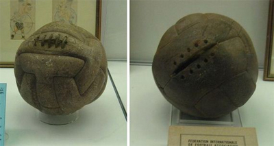 Uruguay 1930. Two different balls were used in the final: Argentina supplied the first-half ball and led 2-1 at the break; Uruguay supplied the second-half ball and won 4-2.