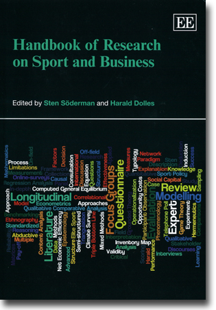 Sten Söderman & Harald Dolles (red) Handbook of Research on Sport and Business 576 sidor, inb. Cheltenham, Glos: Edward Elgar 2013 ISBN 978-1-84980-005-1