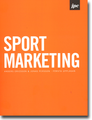 Anders Ericsson & Jonas Persson Sport Marketing 173 sidor, hft., ill. Stockholm: JPC 2013 ISBN 978-91-6373986-6