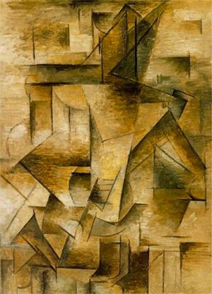 Pablo Picasso, Le joueur de guitare Oil on canvas, 1910.