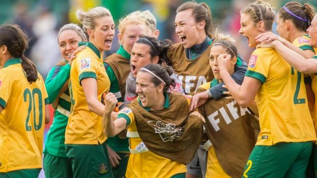Australia's women's soccer team, the Matildas.