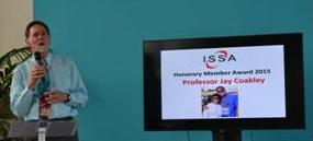 The ISSA Honorary Award winner in Paris in 2015 was Jay Coakley.
